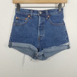 Levi's PREMIUM High Rise Ribcage Button Fly Short